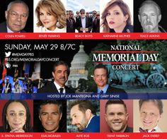 We are thrilled to announce the lineup for the 2016 National Memorial Day Concert. Share with your friends and let them know you will be honoring the service and sacrifice of our military men and women, veterans and their families on May 29. ‪#‎MemDayPBS‬ http://to.pbs.org/1rC7vzL