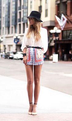 Look: Short Estampado