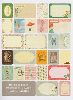 Project Life SEASONS Themed Cards Pack   by LaPetiteFeuille, $6.59