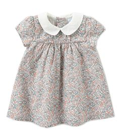 Bonnie Baby Baby or Girls Smocked Dress Cotton Black Floral 12 months 4T NWT