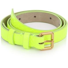 Marc by Marc Jacobs Fluorescent belt found on Polyvore