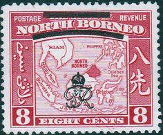 North Borneo 1947 British Protectorate Fine Mint GR monogram SG 339 Scott 227 Other Malayan Stamps HERE