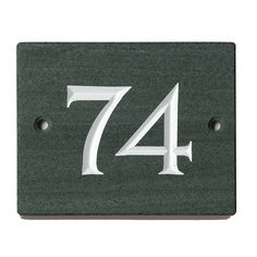 The slate we use is Burlington slate, quarried just down the road. We have picked it for its fabulous quality. It is a rich dark slate, that is frost proof an… Large House Numbers, Slate Signs, Moving Gifts, Neighbor Gifts, Enamel Paint, Moving House, New Home Gifts, Black Box, Classic House