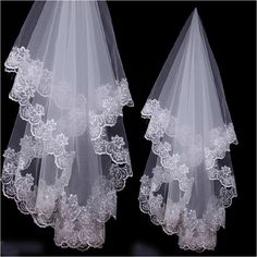 Find More Bridal Veils Information about Free Shipping Fast Delivery 2 Layers Lace Edge 1m Custom made Length Wedding Bride Accessory Bridal Veil,High Quality lace events,China lace wig virgin hair Suppliers, Cheap lace trim wedding veil from E&D GOWNS on Aliexpress.com