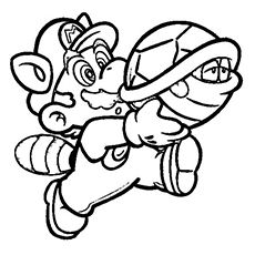 Mario And Koopa Troopa Printable Coloring Pages