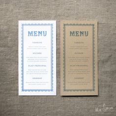 Image of Victorian Wedding Menu