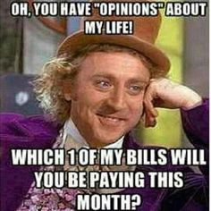 Which one of my bills will you be paying this month?