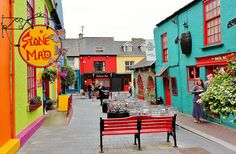 """Kinsale, Ireland.  Colours excite me, I would imagine passing through here on one of those """"gloomy"""" days we experience, would immediately cheer us up!"""