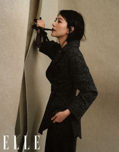 ELLE × Cao Viên Viên (11/2020) Goth, High Neck Dress, Magazine, Dresses, Style, Fashion, Gothic, Turtleneck Dress, Vestidos