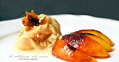 La ricetta del gelato alla pesca con pesche caramellate Gelato, Granite, Pudding, Ethnic Recipes, Desserts, Food, Tailgate Desserts, Ice Cream, Deserts
