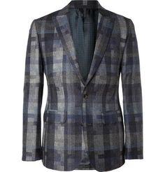 Love this coat...Hardy Amies Bauhaus Slim-Fit Check Wool Blazer | MR PORTER