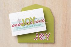 Use the die cut letters from your envelope to decorate the card that will go inside!