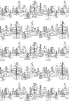 Dessin Pine: cadeaupapier ontworpen door Jurianne Matter voor Ompak Cadeauverpakkingen