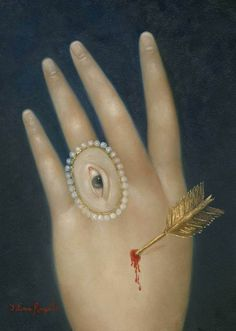 Fatima Ronquillo: Wounded Hand with Lover's Eye, 2015 Photo Illusion, La Danse Macabre, Illustration Photo, Art Français, Lovers Eyes, Eye Jewelry, Jewellery, Hand Art, Art Moderne