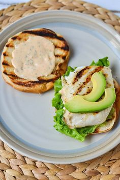 grilled fish sandwiches + smoked paprika, lemon + garlic aioli.