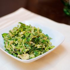 Shredded Brussels Sprouts with Lemon