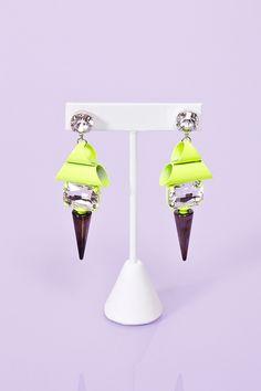 Highlighter Spike Earrings