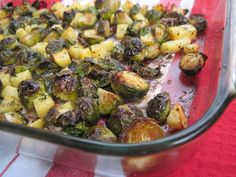 Roasted Rosemary Brussels and Rutabaga