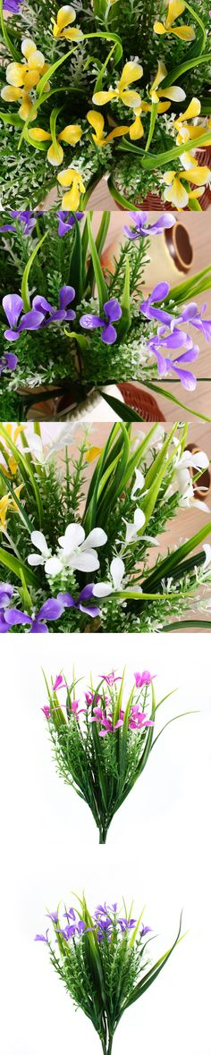 Artificial Plants & Flowers Wedding Party Flower Gladioli Gladiolus Bouquet Home Decor