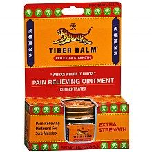 Tiger Balm is amazing for sore muscles. Make sure to get the clear kind. The extra strength is orange and can stain clothes.