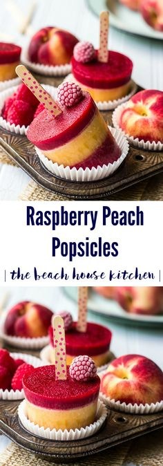 Raspberry Peach Popsicles