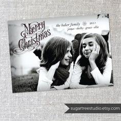 Vintage Christmas - Custom Photo Christmas Card