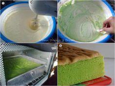 Venus Brownies & Bread: Pandan Sponge Cake Bolu Cake, Pandan Cake, Resep Cake, Asian Recipes, Ethnic Recipes, Sponge Cake, Muffin, Food And Drink, Ice Cream