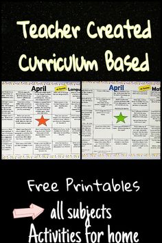 Teacher created and curriculum based! These printable charts allow kids to choose their learning for the day. All subject areas are covered and all activities can be done at home. and they are fun! Music Activities For Kids, Social Studies Activities, Hands On Activities, Math Activities, Indoor Activities, Kindergarten Learning, Fun Learning, Curriculum, Homeschool