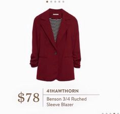 I don't own any blazers, but this might be nice to layer in the fall. Love the color.