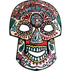 United Art and Education Art Project:  Learn about and celebrate The Day of The Dead by coloring a vibrant skull mask!