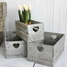 Antique wooden crates, available to order at Interiosity, Douglas, Cork. Decorative Accessories, Home Accessories, Decorative Boxes, Craft Markets, Country Crafts, Wood Crates, French Country Decorating, Decoration, Accent Decor