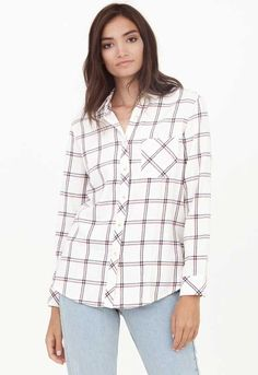 Thread and Supply Ashbey Plaid Button Up Shirt for Women