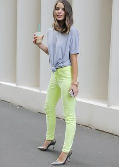 Fancy - Neon Skinny Jeans by J Brand. I now know how to spice up my lavender pair - with lemon