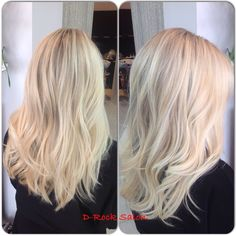 Blonde balayage hair | D-Rock Salon, Fairfax VA | 703-293-9400 Drocksalon.com