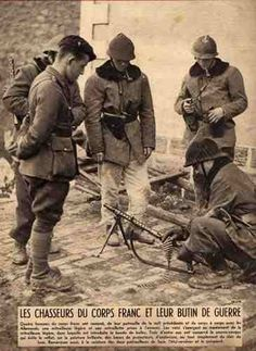 """Not """"Corps francs"""" (i.e """"""""Freikorps"""") but """"French Alpins"""" from mountain troops."""