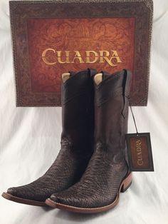 CUADRA PYTHON SNAKE SKIN brown cowboy boots *ALL SIZES * botas de vibora piton