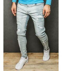 Svetlomodré pánske džínsové nohavice Grey, Pants, Fashion, Gray, Trouser Pants, Moda, Fashion Styles, Women's Pants, Women Pants