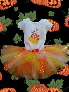 Halloween Candy Corn Tutu Costume