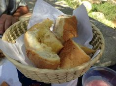 Garlic toast at Jerry's OK Corral, our lunch stop with Tani Tours  |   Puerto Vallarta, Me