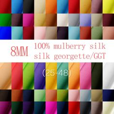 Excited to share the latest addition to my #etsy shop: 8mm Pure Silk silk georgette/GGT for Fashion Apparel Clothing By half Meters 114cm width S002 http://etsy.me/2Clngk2