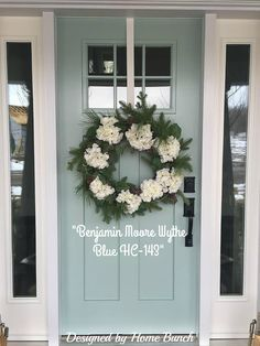 Front Door Paint Colors - Want a quick makeover? Paint your front door a different color. Here a pretty front door color ideas to improve your home's curb appeal and add more style! Exterior Paint Colors, Exterior House Colors, Paint Colors For Home, Paint Colours, Garage Paint Colors, Cottage Paint Colors, Entryway Paint Colors, Exterior Design, Design Scandinavian