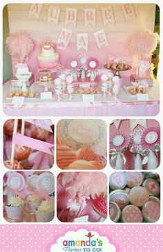 Ballerina pink themed party idea