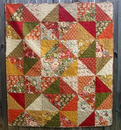 Warm Spicy Quilt Allure Fall Autumn Throw by atthebrightspot