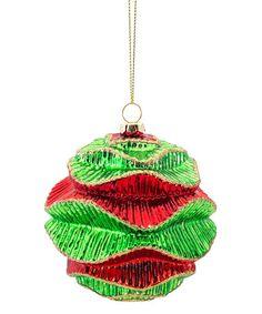 Red & Green Abstract Ornament - Set of Six #zulily #zulilyfinds
