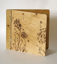 Dandelion wishes wooden cover book