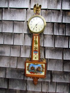 Vintage Verichron Wall Clock With Chime And Pendulum