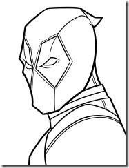 Resultado De Imagen Para Dibujo De Deadpool Para Colorear Marvel