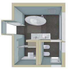 Badplanung eines Familienbadezimmers