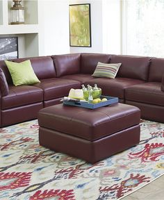 alessia leather sofa living room furniture collection macys com