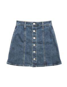 Mini Falda denim abotonada de Alexa Chung para Ag Jeans